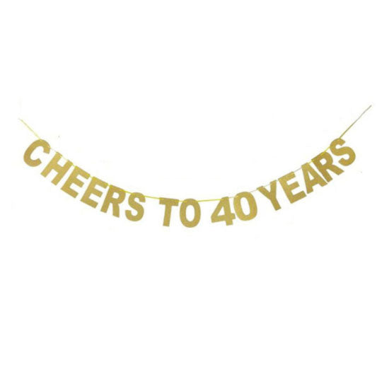 Cheers to 40 Years Banner - Party Supplies in Canada