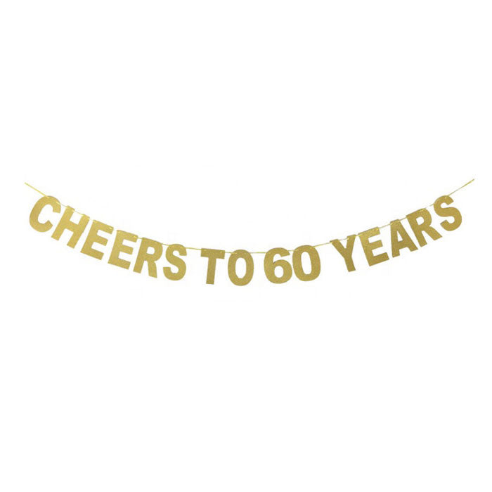 Cheers to 60 Years Banner - Party Supplies in Canada