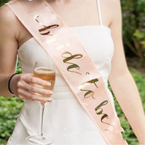 Rose Gold Bride to Be Sash for Bachelorette Parties - Party Supplies in Canada