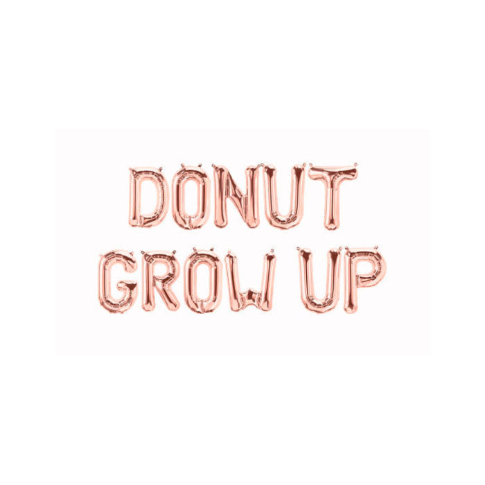 Donut Grow Up Balloon Banner for Birthday Parties - Party Supplies in Canada