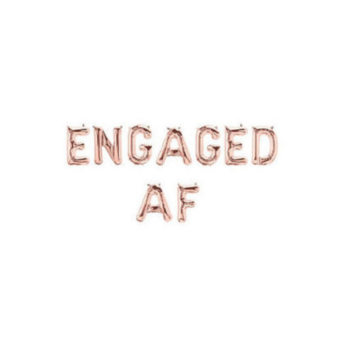 Engaged AF Balloon Banner for Engagement Party - Party Supplies in Canada