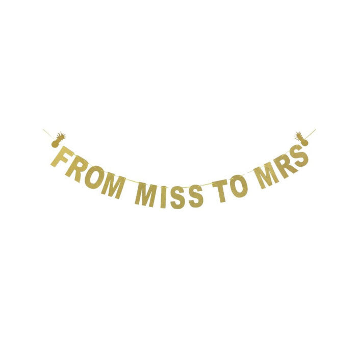From Miss to Mrs Banner - Party Supplies in Canada