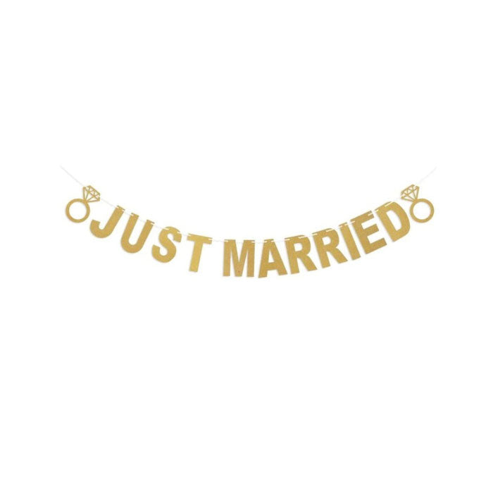 Just Married Banner for Weddings - Party Supplies in Canada