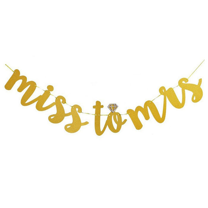 Cursive Miss to Mrs Banner - Party Supplies in Canada