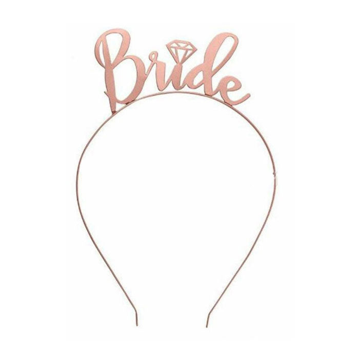 Rose Gold Bachelorette Party Headband with Diamond - Party Supplies in Canada