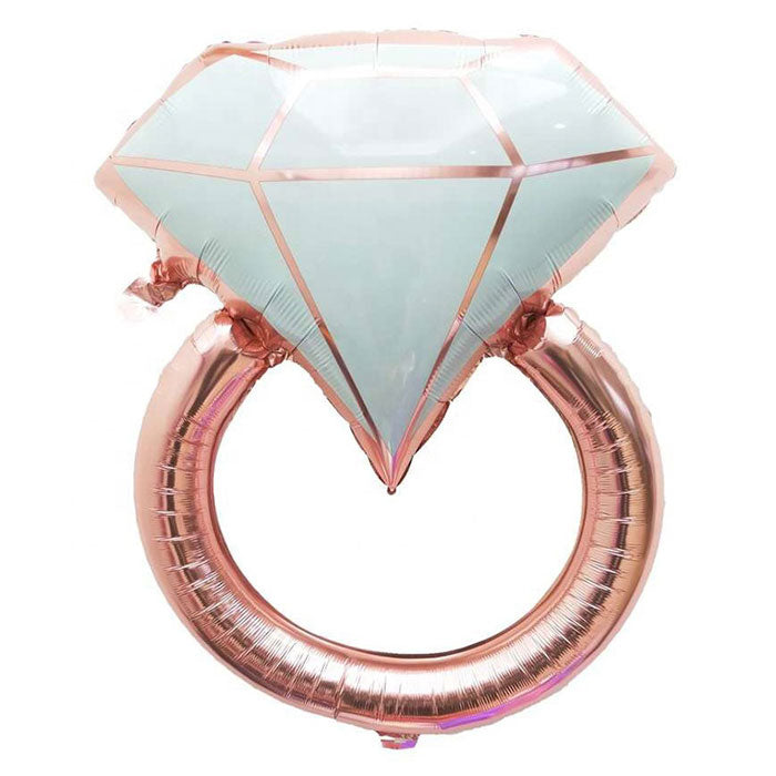 Rose Gold Diamond Ring Balloon - Party Supplies in Canada