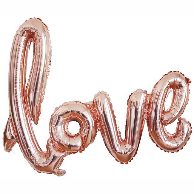 Rose Gold Script Love Balloon - Party Supplies in Canada