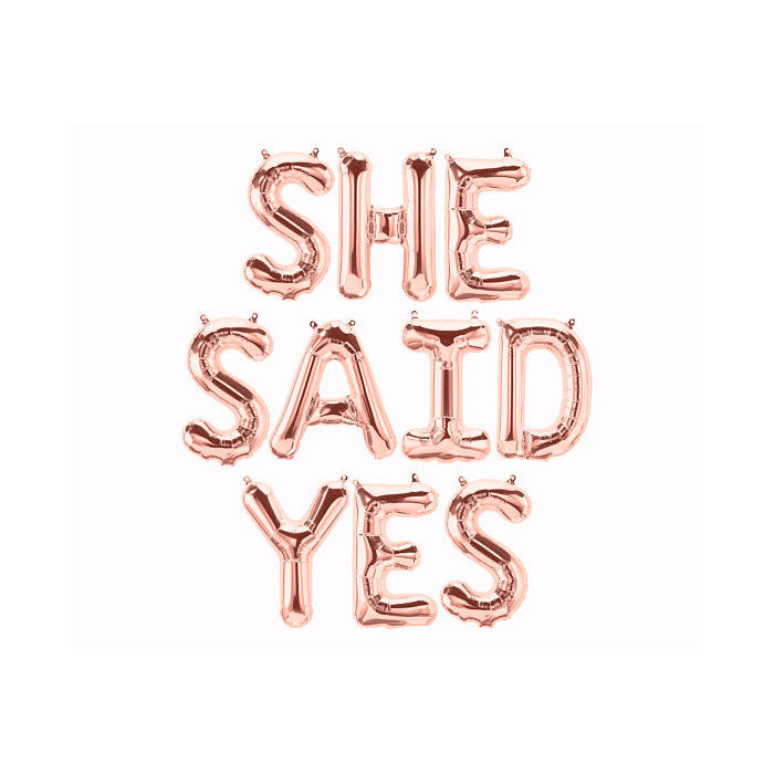 She Said Yes Balloon Banner - Party Supplies in Canada