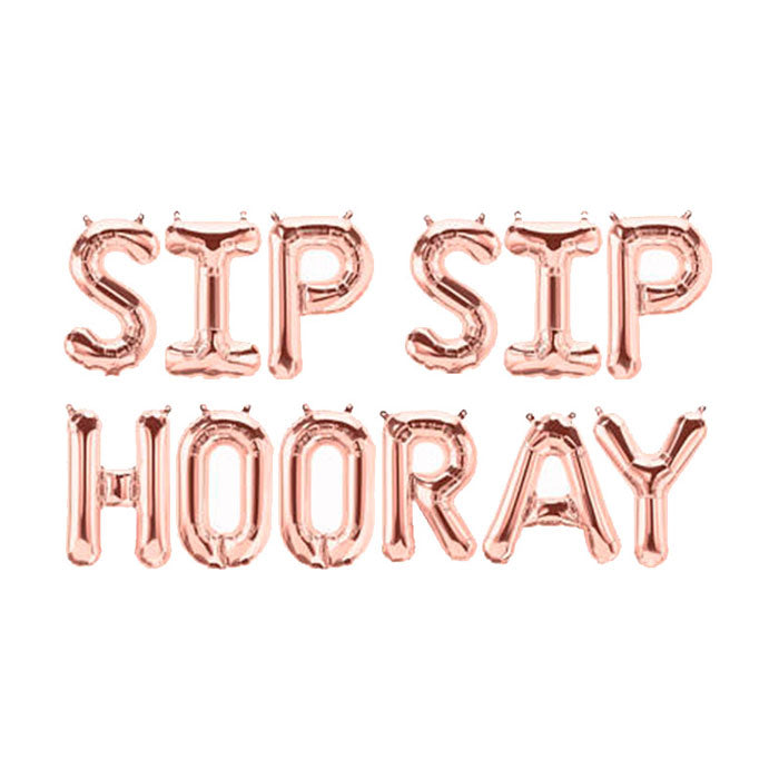 Sip Sip Hooray Balloon Banner - Party Supplies in Canada