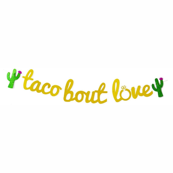 Taco Bout Love Banner for Bachelorette Parties - Party Supplies in Canada