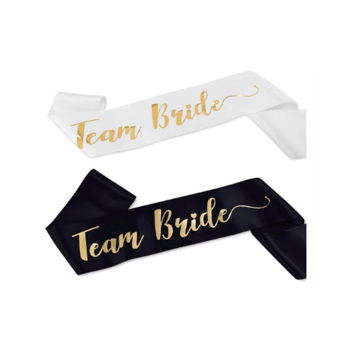 Team Bride Sash Black or White for Bachelorette Parties - Party Supplies in Canada