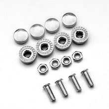 Stainless Steel Car License Plate Bolts Frame Chrome Screws 1 set