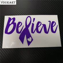 Believe Vinyl Window Car Stickers And Decals Cancer Awareness