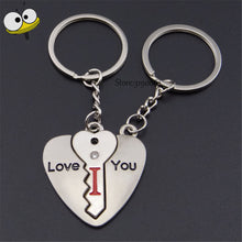 Heart-shaped Lock I Love You Keychain Car Key Ring Car Styling