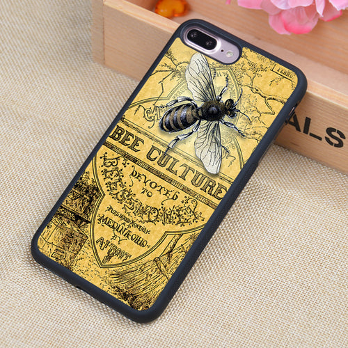 Funny Bee Cuture Printed Phone Case Skin Shell For iPhone 6 6S Plus 7 7 Plus 5 5S 5C SE 4 4S Rubber Soft Cell Housing Cover