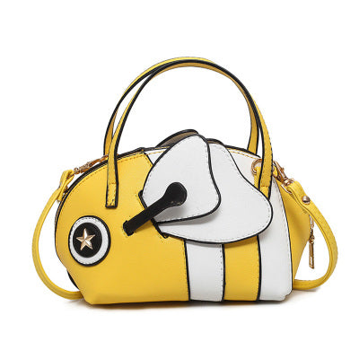 Women 3D Bee Shaped Messenger Bag Funny Honeybee Handbags Crossbody Bags for Ladies Shoulder Bags with Eyes and Wings