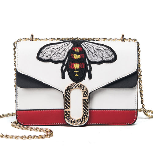 2017 New Fashion Handbags High Quality Personalized Wild Messenger Bag Mini Cute Little Bee Bag Single Shoulder Chain Women Bag