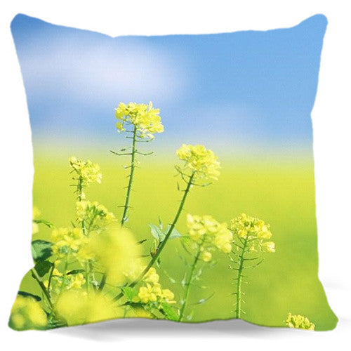 40 45 48 cm Square Cushion Cover Bed Decorative Home Office car seat Cole flowers Bee yellow Cotton polyester Throw Pillow Case