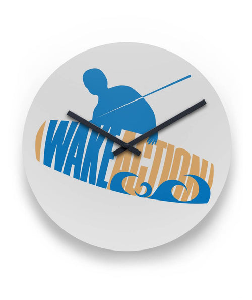 "WALL CLOCK WAKE ACTION 11"" Round Wall Clock"