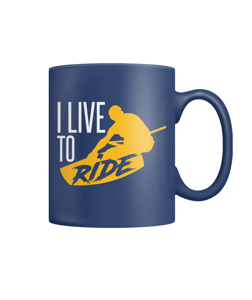 WAKEBOARD DARK BLUE MUG Color Coffee Mug