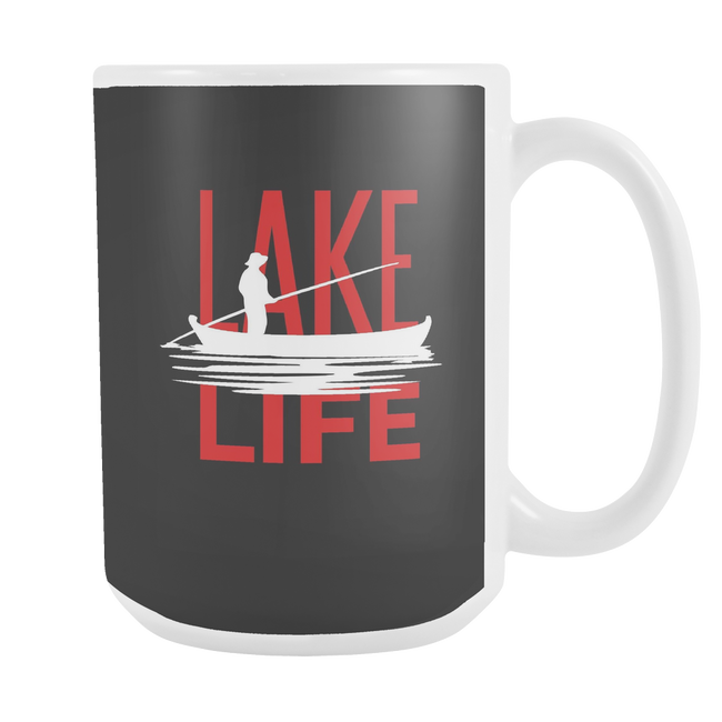 LARGE COFFEE MUG - LAKE LIFE