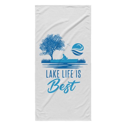 WHITE EXTRA LARGE BEACH TOWEL