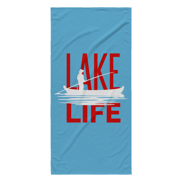 LARGE BEACH TOWEL - LAKE LIFE
