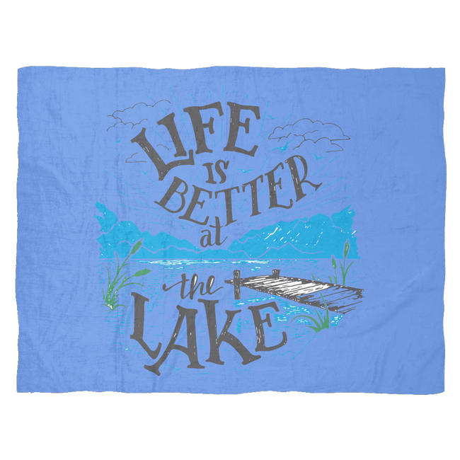 FLEECE BLANKET - LAKE LIFE