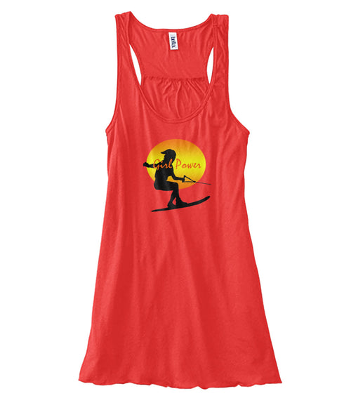 Coral Ladies Water Ski Flowy Tank Top Women's Flowy Tank
