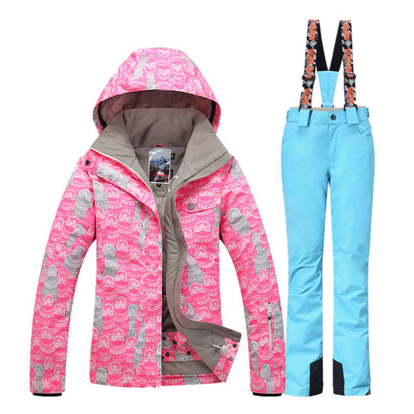 774c00a6ad ... GSOU SNOW Ski Suit Women Ski Jacket Pants Winter Outdoor Mountain  Skiing Suit Female Snowboard Jacket ...
