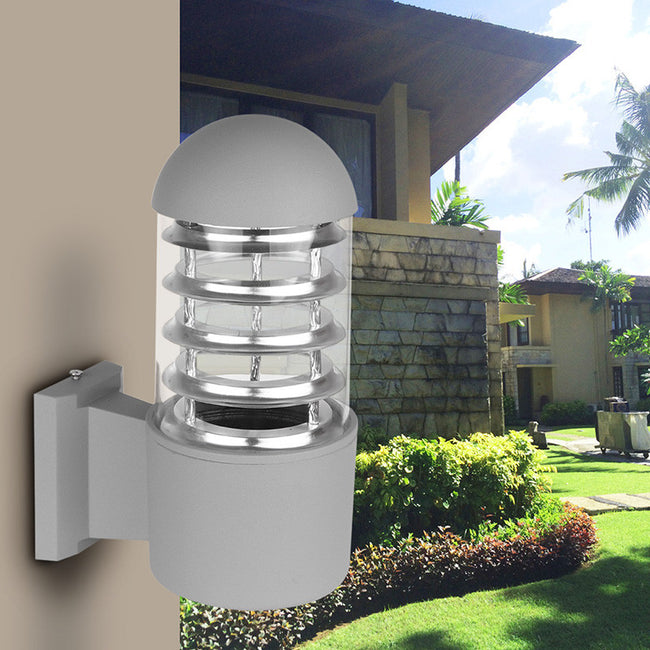 Waterproof Outdoor Lighting Aluminum Glass Lampshade LED Wall Light Fixtures IP65 Wall Lamp E27 Socket AC 85-240V without Bulb