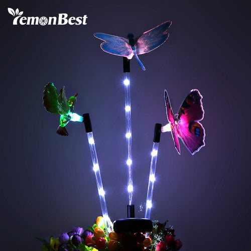 3pcs Multi-color Solar Garden Light LED Lawn Lamp Gradual Changing Path Light for Home Holiday Party Decoration Outdoor Lighting