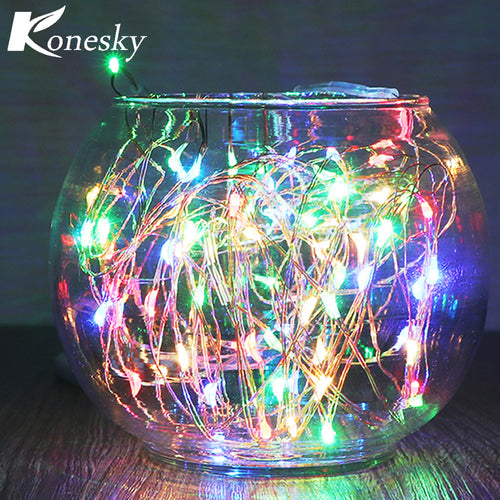 string led lights  5m16.4ft RGB 50LED Copper Wire String Light for Glass Craft RGB copper wire christmas festival wedding party