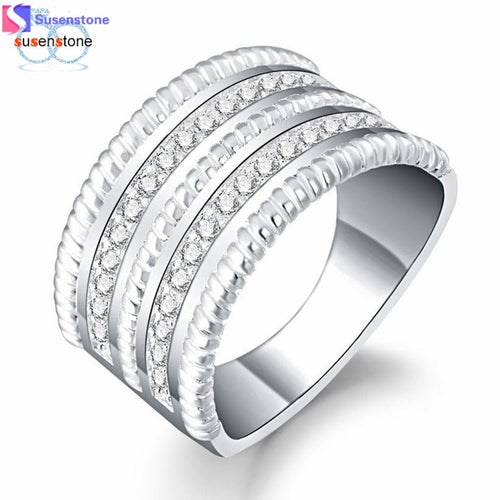 SUSENSTONE Fashion Women Ring Jewelry