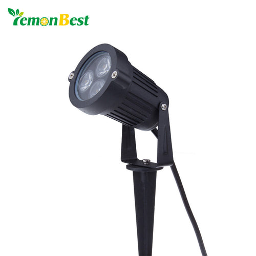 3*3W LED Garden Light 220V Flood Yard Patio Path Spotlight IP65 Lawn Lamp Waterproof Landscape Outdoor Lighting AC 85-265V