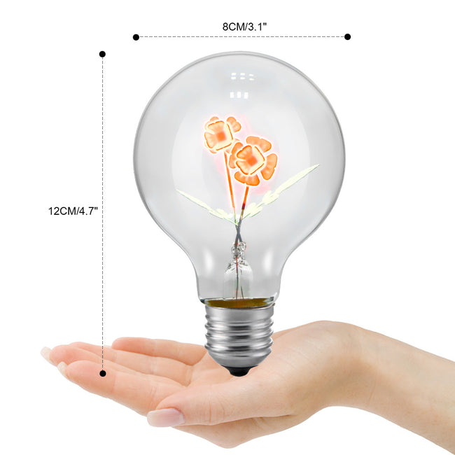 Edison Lamp E27 Decorative Incandescent Bulb G80 Vintage Novelty Folwer Holiday Lights Christmas Lights for Home Lampada