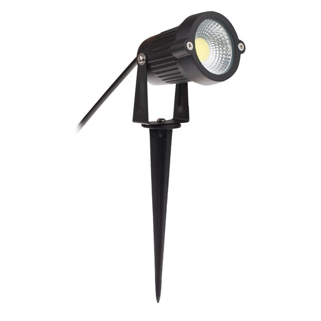 5*1W Outdoor Waterproof COB LED Lawn Light Yard Garden Spike Spotlight Lamp With Warm Light Cool Light AC 85-265V AC/DC 12V