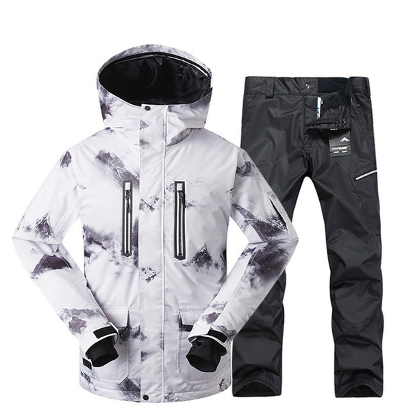 GSOU SNOW Brand Winter Ski Suit Men Ski Jacket Pants Waterproof Mountain  Skiing Suits Male Snowboard ... ef6a48795