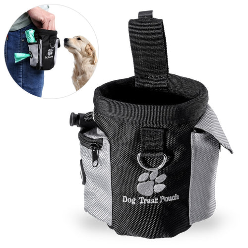 UEETEK Dog Treat Pouch Pet Hands Free Training Waist Bag Drawstring Carries Pet Toys Food Poop Bag Pouch