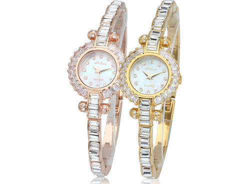 Cool Ultra-thin Bracelet Watches Women Luxury Crystals Dress Wrist watch Elegant Lady MELISSA Jewelry Watch Montre Femme F8130