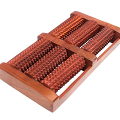 Desi Karigar Wooden Foot / Feet Massager 6 Roller Stress Acupressure