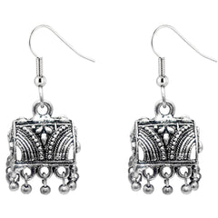 JewelMaze Oxidised Jhumki Earring