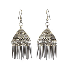 JewelMaze Oxidised Plated Jhumki Earring