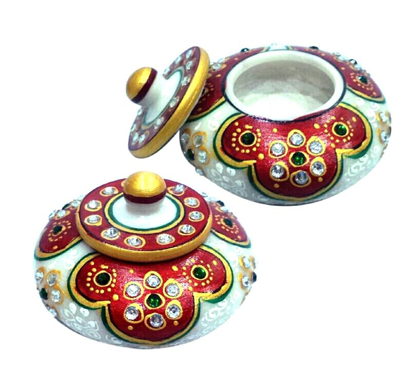 Decorative Hand Painted Sindor Dabi Big