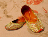 Designer Festive Embroidered and Cushioned Jutti for Women