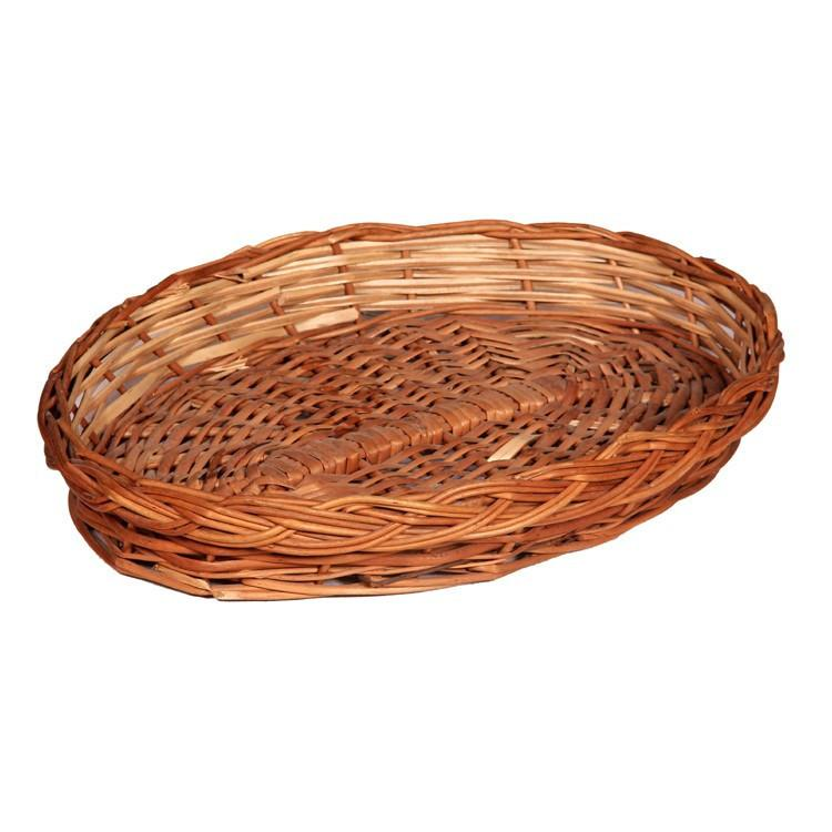 Handicraft Oval Shaped Wooden Basket