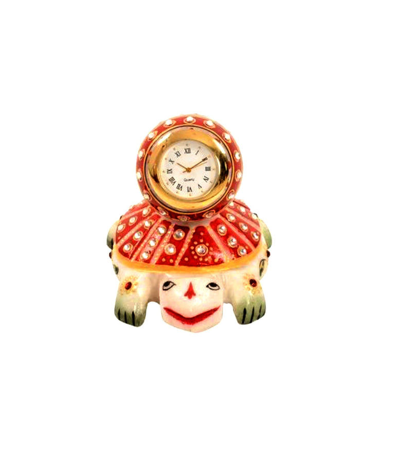 Handcrafted With Incredible Meenakari Tortoise Clock