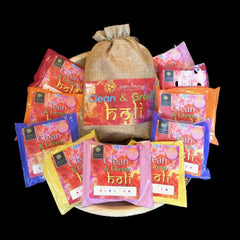 Multipack 5 Natural Holi Colours 1kg Red Orange Blue Yellow & Pink