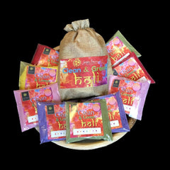 Multipack 5 Natural Holi Colours 1kg Red Yellow Pink Blue & Green