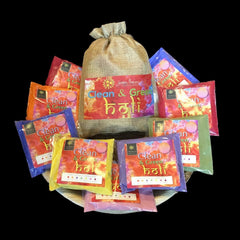 Multipack 7 Natural Holi Colours 1kg Red Orange Blue Yellow Pink Purple & Green